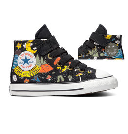 CONVERSE CHUCK TAYLOR AS 1V HI BLACK/BOLD MANDARIN/AMARILLO CLAMP-767531C