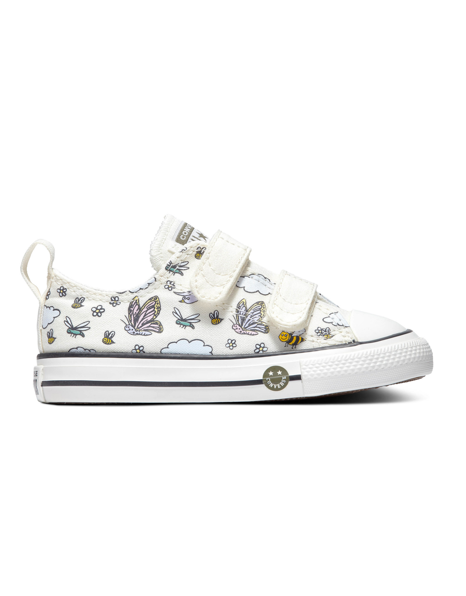 CONVERSE CHUCK TAYLOR AS 2V OX VINTAGE WHITE CLAMPI-767899C