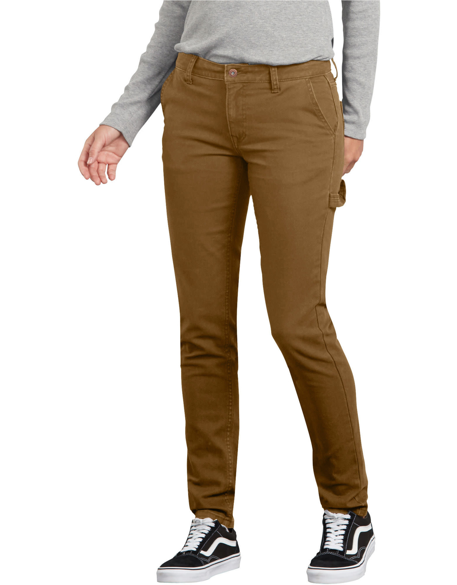 DICKIES Women's Stretch Washed Carpenter Pants