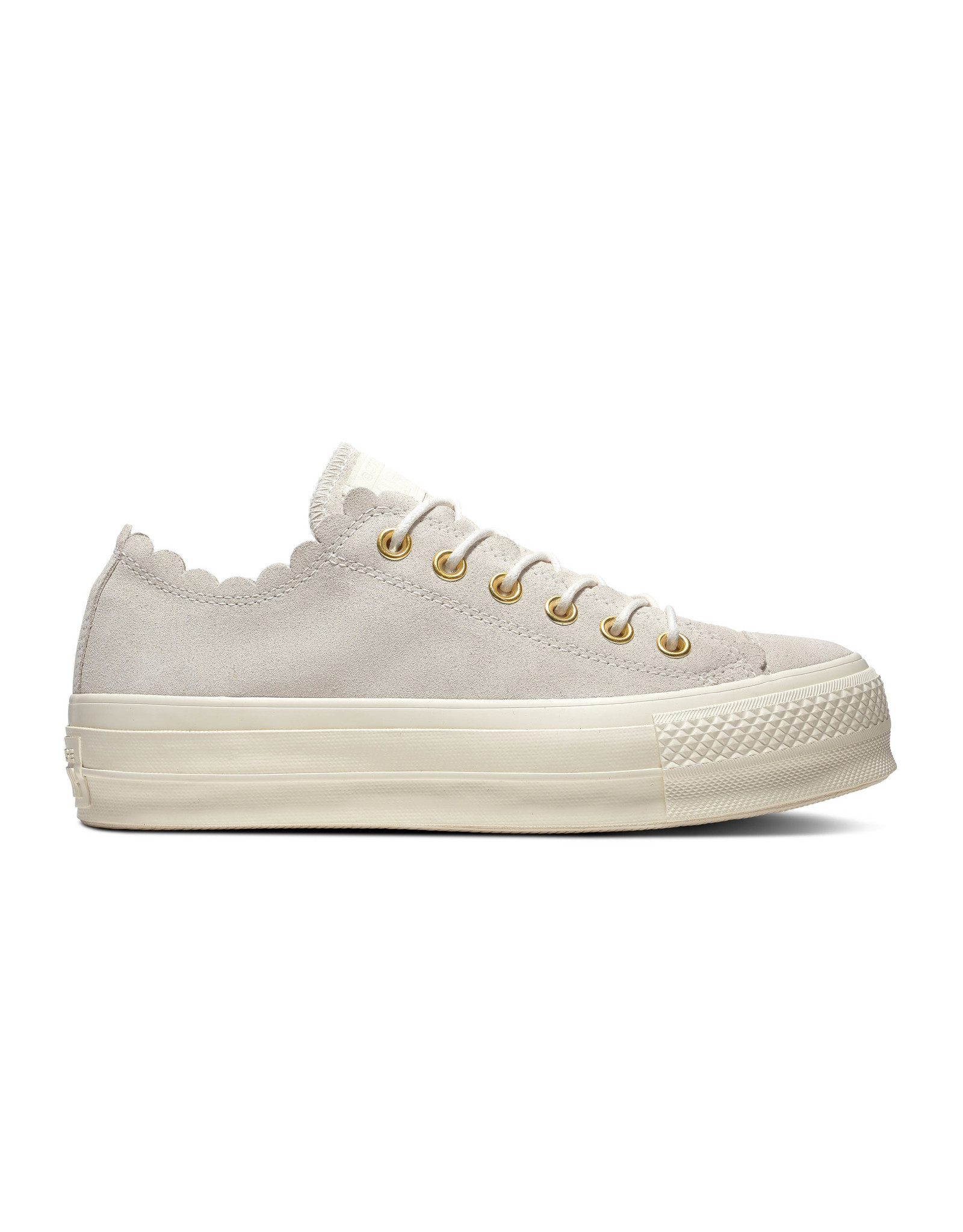 CONVERSE CHUCK TAYLOR ALL STAR LIFT OX EGRET/GOLD/EGRET C13LE-563498C