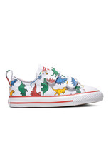 CONVERSE CTAS 2V OX WHITE/ENAMEL RED/TOTALLY BLUE CKVEN-763713C