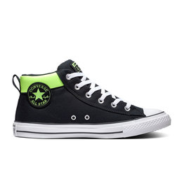 CONVERSE CHUCK TAYLOR STREET MID BLACK/WHITE/GHOST GREEN C098GG-167916C