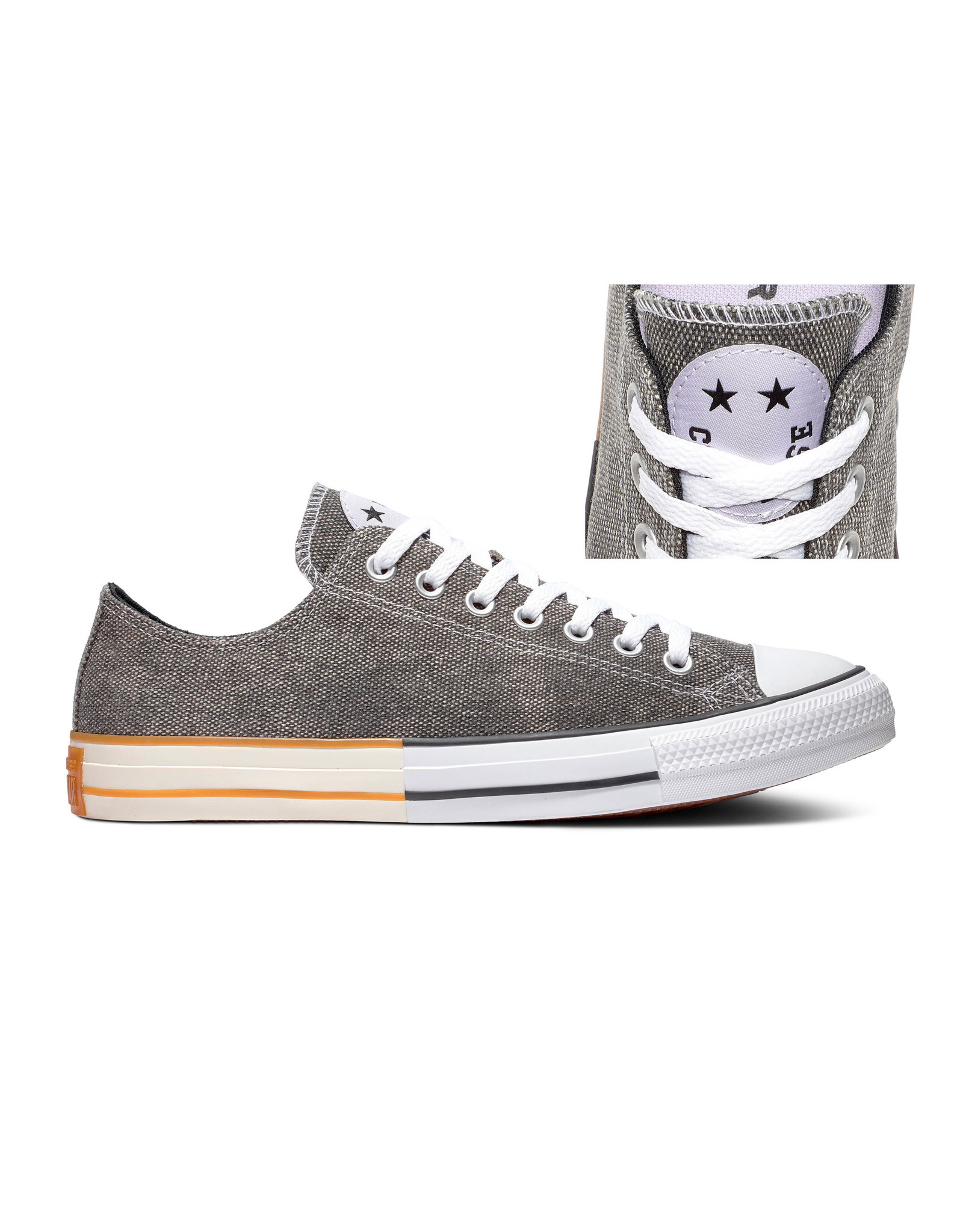 CONVERSE CHUCK TAYLOR OX BLACK/MOONSTONE VIOLET/WHITE C14MOON-167665C