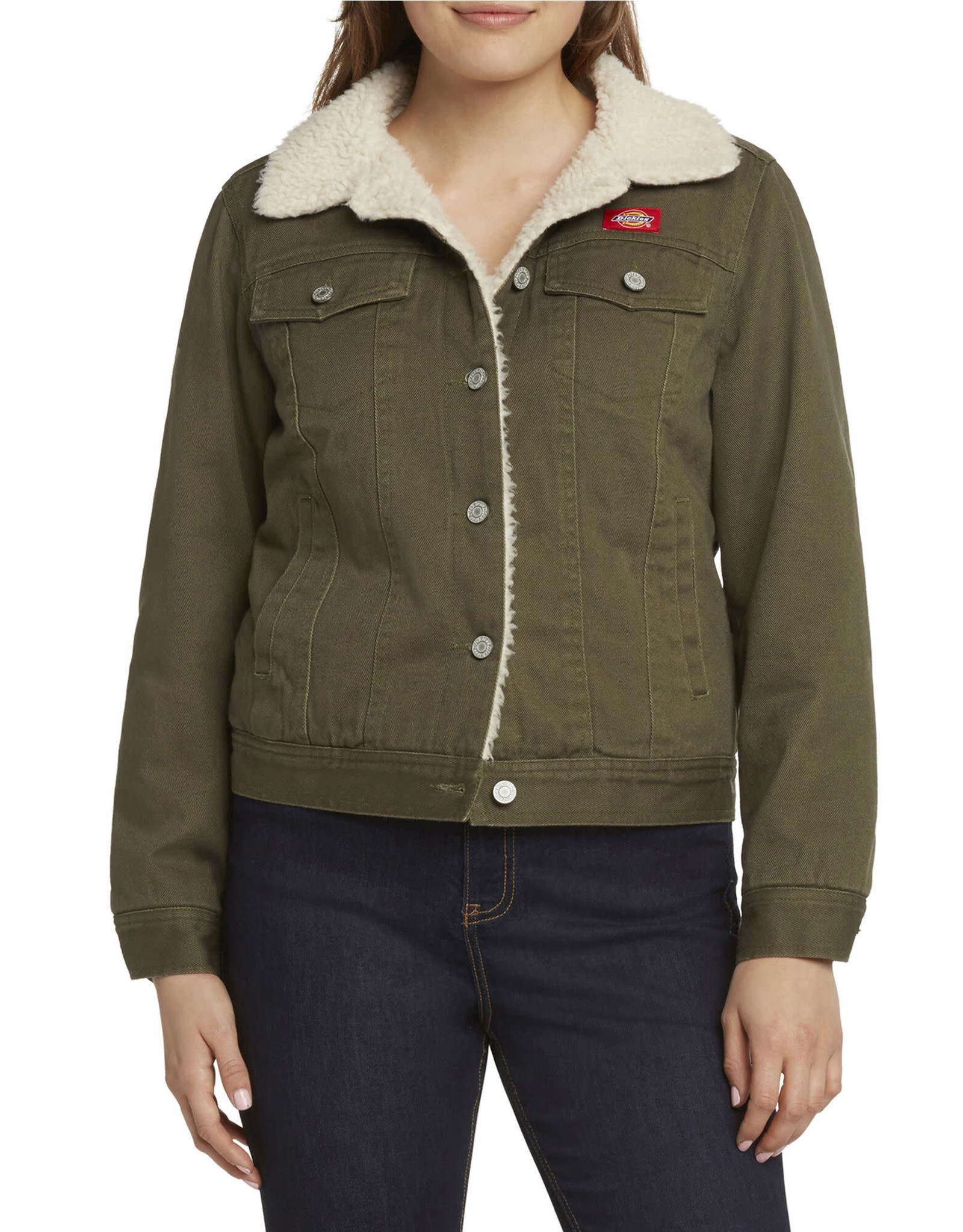Dickies Girl Sherpa Lined Twill Jacket