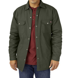 DICKIES Flannel Lined Duck Shirt Jacket with Hydroshield