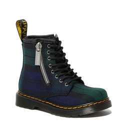 DR. MARTENS 1460 ZIP YOUTH TARTAN FABRIC BLACK WATCH Y815YTA-R26147758