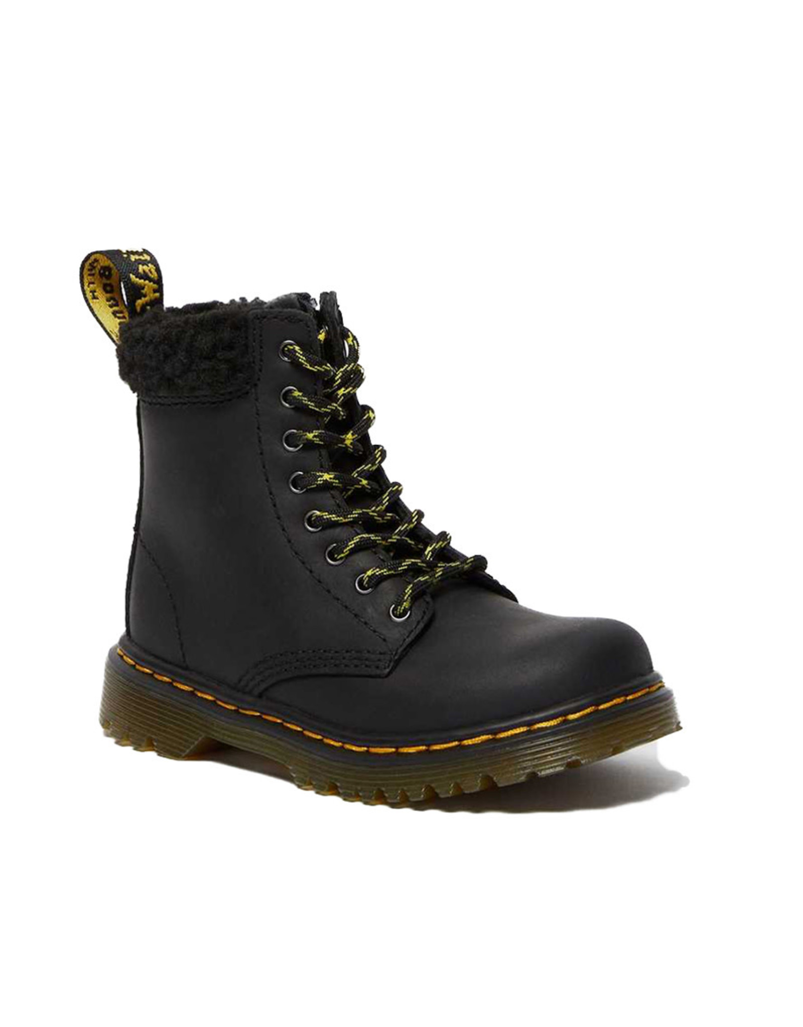DR. MARTENS 1460 COLLAR YOUTH BLACK REPUBLIC WP + BORG FLEECE Y815YCB-R26166001
