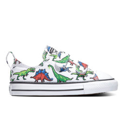 CONVERSE CHUCK TAYLOR ALL STAR 2V OX WHITE/GREEN/UNIVERSITY RED CMINO-770166C