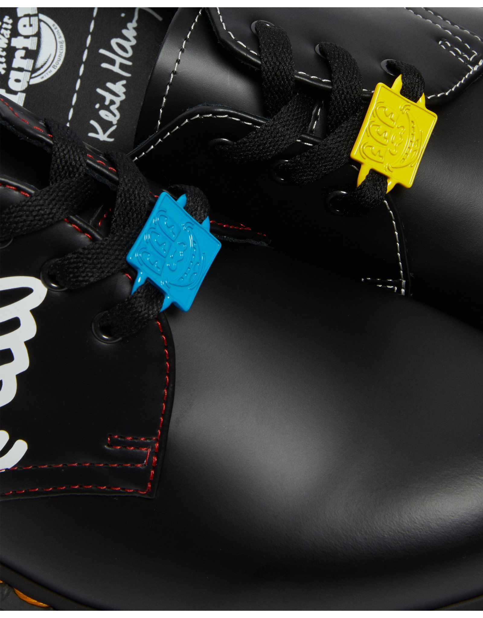 DR. MARTENS 1461 KEITH HARING FIG BLACK/RED/WHITE 301KHR-R26834001