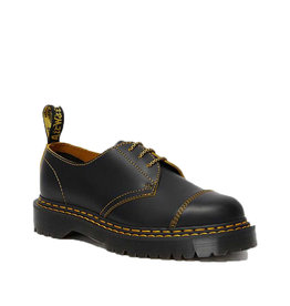 DR. MARTENS 1461 BEX DS  BLACK+YELLOW SMOOTH SLICE 301BEXY-R25951032