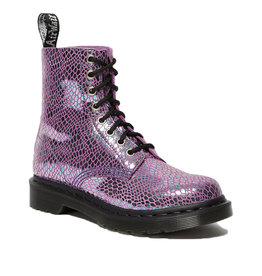DR. MARTENS 1460 PASCAL PURPLE SNAKE METALLIC SUEDE 815SMP-R26077500
