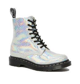DR. MARTENS 1460 PASCAL WHITE SNAKE METALLIC SUEDE 815SMW-R26077100