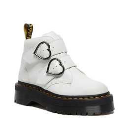 DR. MARTENS DEVON HEART WHITE MILLED NAPPA SH53WN-R26439100