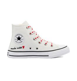 CONVERSE CHUCK TAYLOR ALL STAR HI VINTAGE WHITE/UNIVERSITY RED CBMADE-671125C