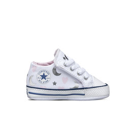 CONVERSE CHUCK TAYLOR CRIBSTER MID WHITE/PINK/SILVER C12LUNA-871092C