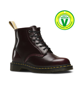 DR. MARTENS VEGAN 101 CHERRY RED OXFORD RUB OFF 601VECA-R23985600