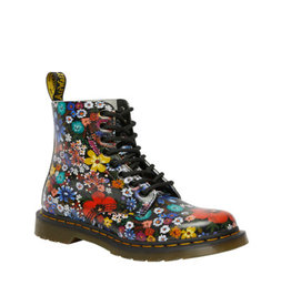 DR. MARTENS 1460 WANDERFLORA JUNIOR BLACK HYDRO LEATHER Y815JFL-R26046001