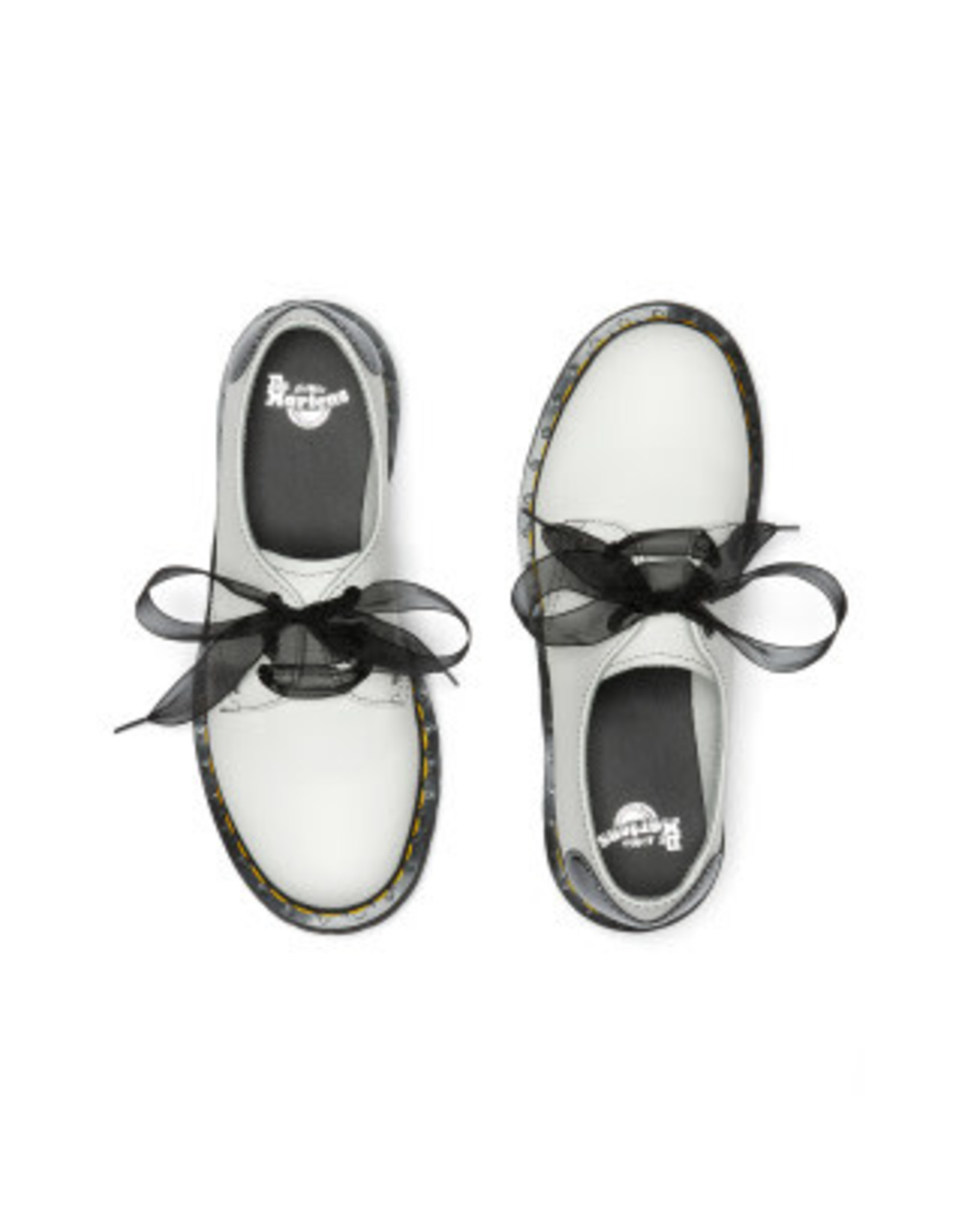 DR. MARTENS 1461 HEARTS WHITE & BLACK SMOOTH & PATENT LAMPER 301WH-R26682100