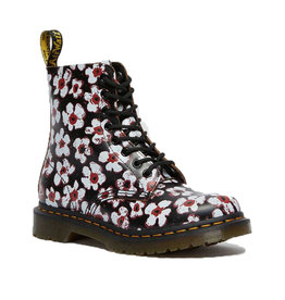 DR. MARTENS 1460 PASCAL BLACK/RED PANSY FAYRE 815PBR-R26456002