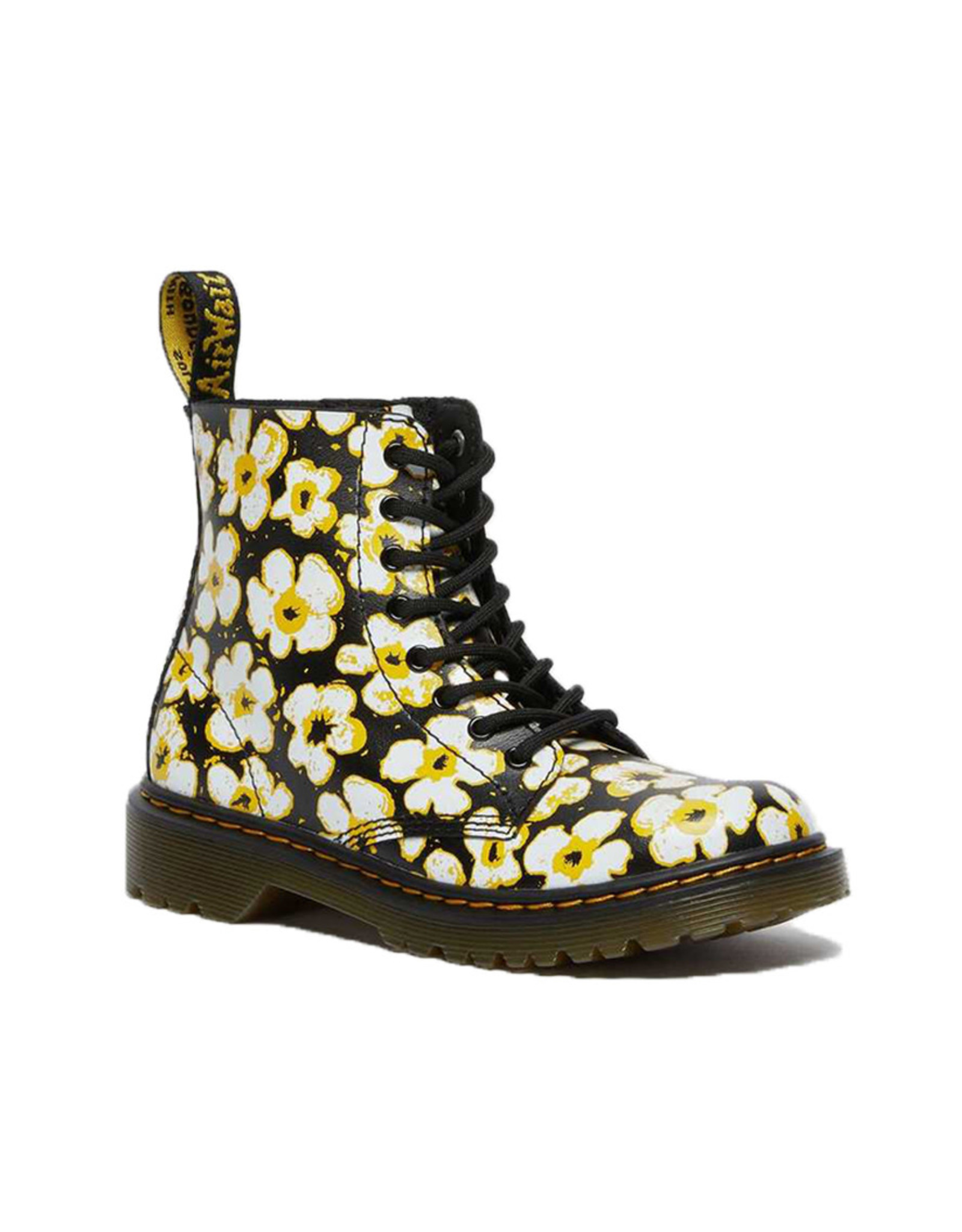 DR. MARTENS 1460 PASCAL JUNIOR BLACK DMS/YELLOW PANSY FAYRE T LAMPER Y815JPF-R26613001