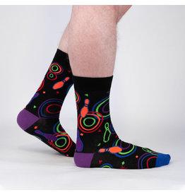 SOCK IT TO ME - Men's Bowling Alley Carpet Crew Socks