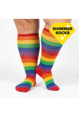 SOCK IT TO ME - Stretch-It Knee High March With Pride Shimmer Socks