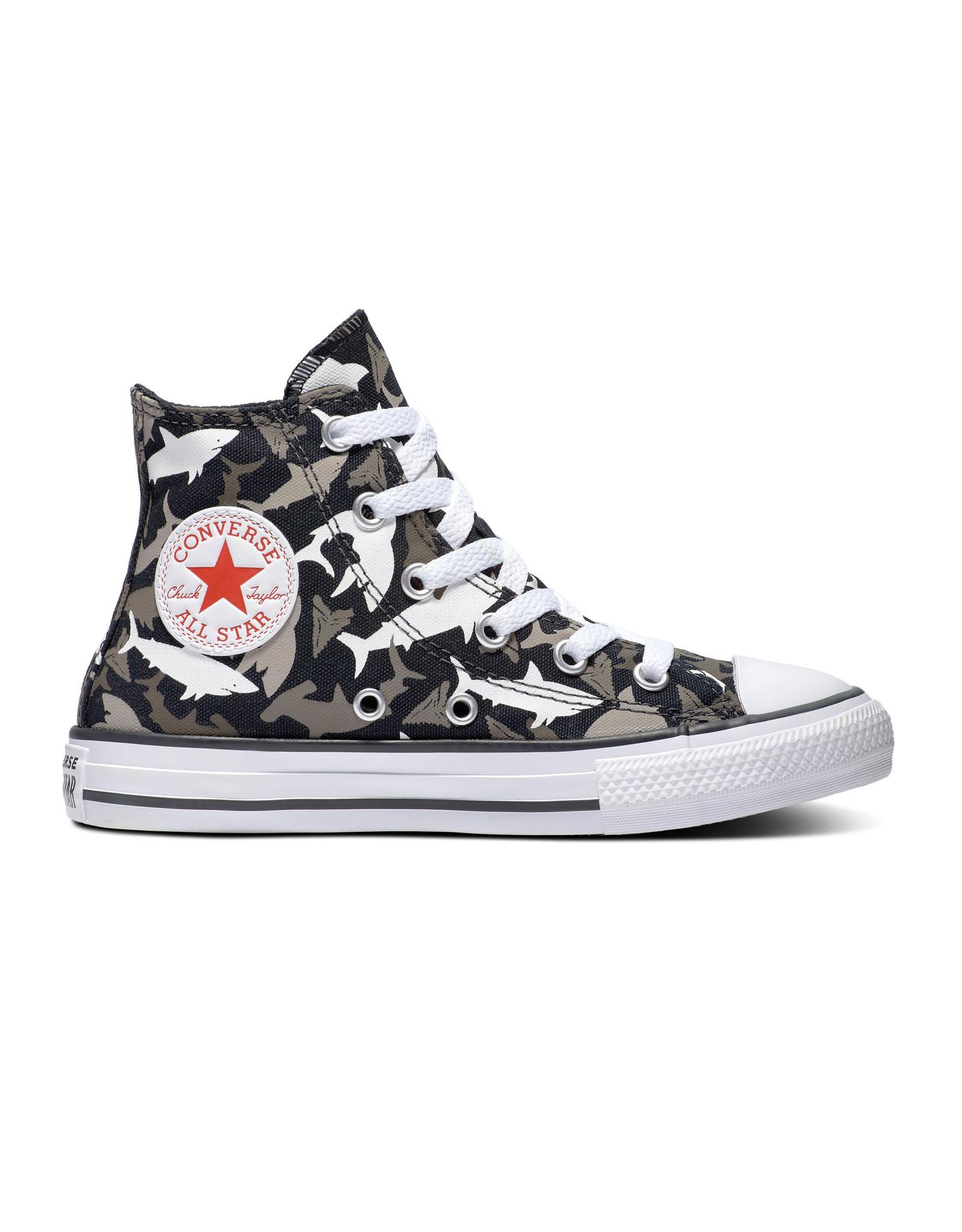 CONVERSE CHUCK TAYLOR ALL STAR  HI BLACK/UNIVERSITY RED/WHITE CAREQ-666888C