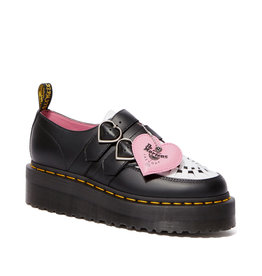 DR. MARTENS DR.MARTENS X LAZY OAF BUCKLE CREEPER LO BLACK+WHITE SMOOTH+SOFTY T M99LO-R25315009