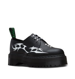 DR. MARTENS DR MARTENS X PLEASURES 1461 TRIBAL BLACK + WHITE TRIBAL BACKHAND 302TRI-R25225009