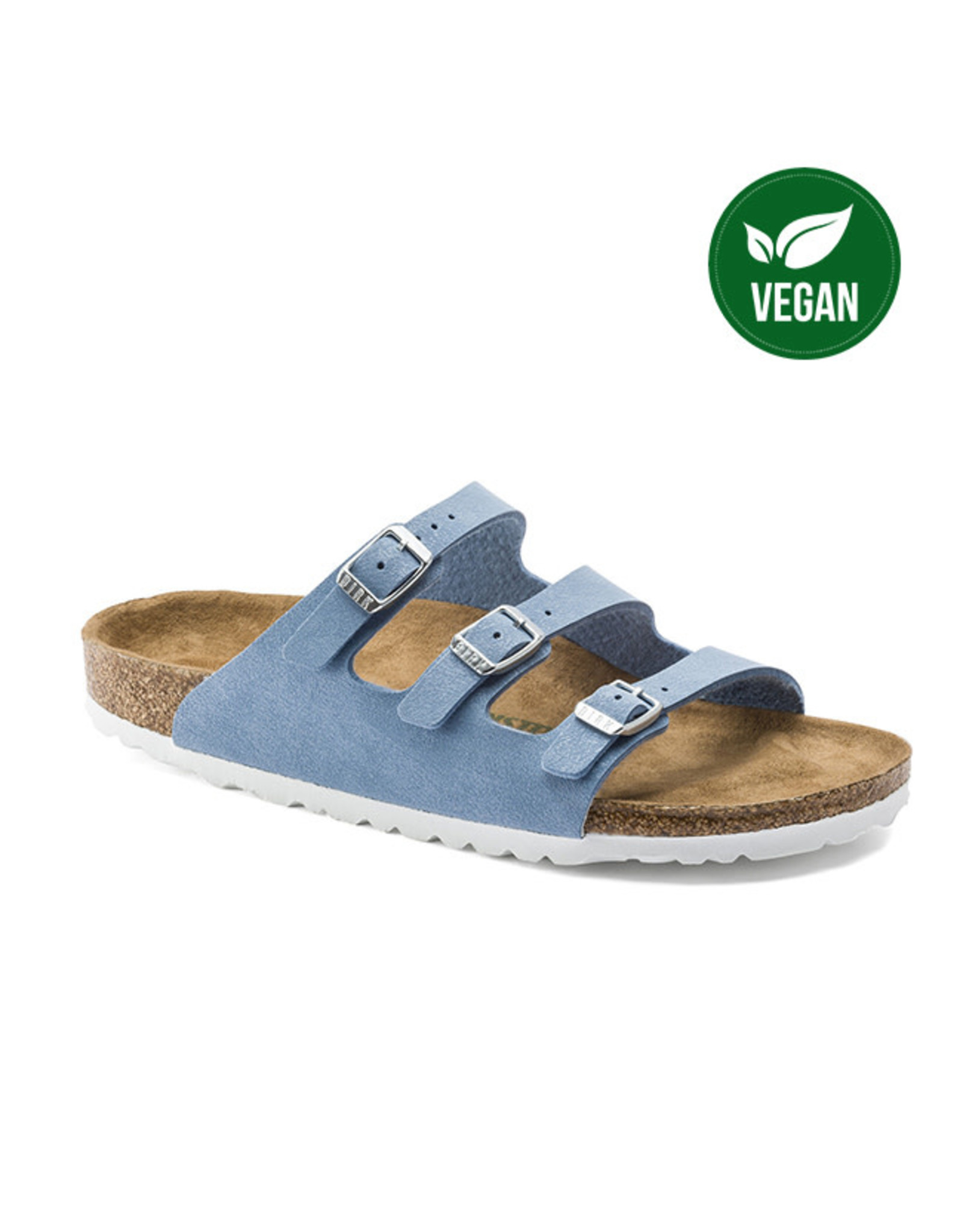 BIRKENSTOCK Florida Fresh Vegan Birkibuc Dove Blue N N FLO-VEBI-N 1018151