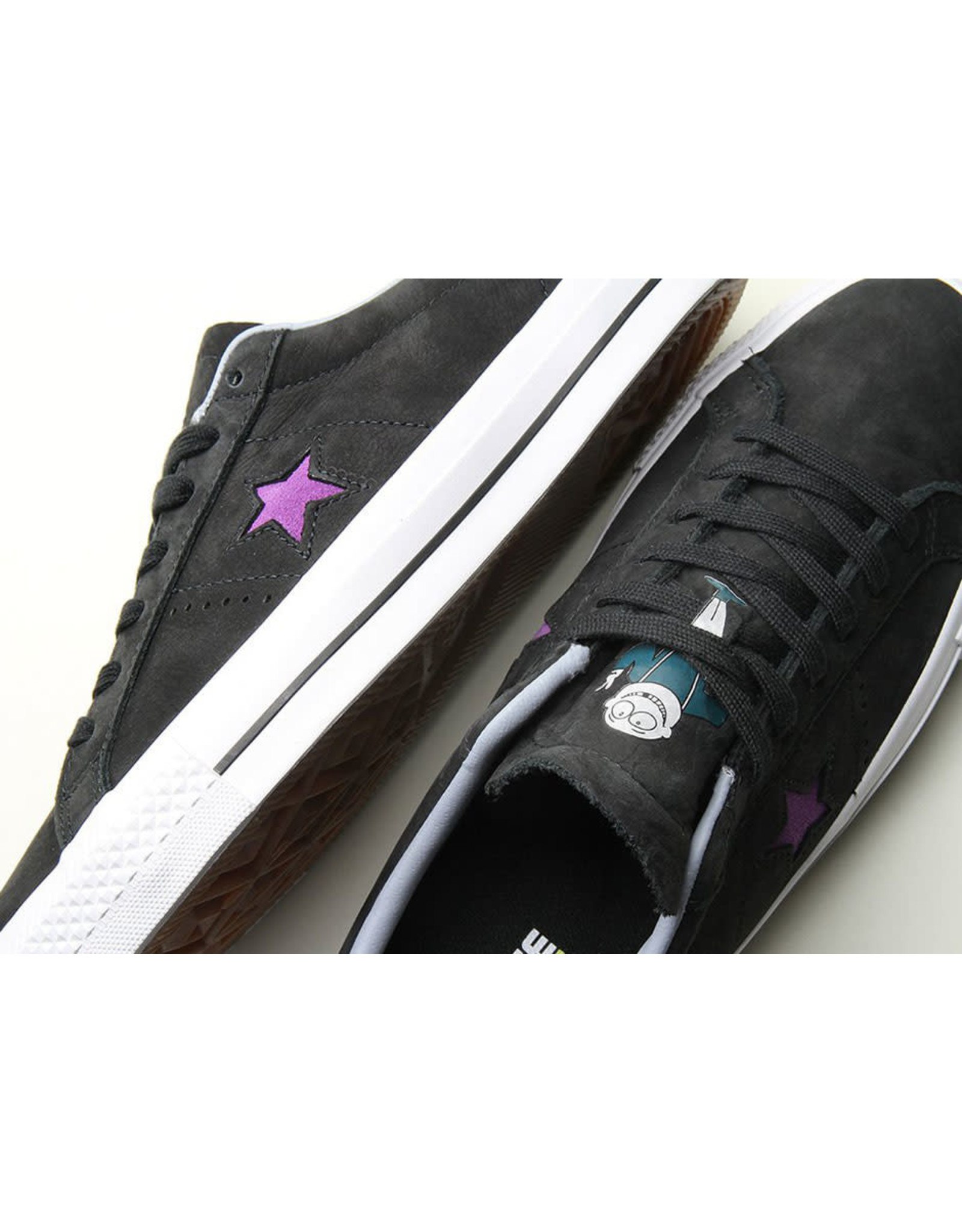 CONVERSE ONE STAR LEATHER OX PRO DINOSAUR JR BLACK CC786DINO-158660C