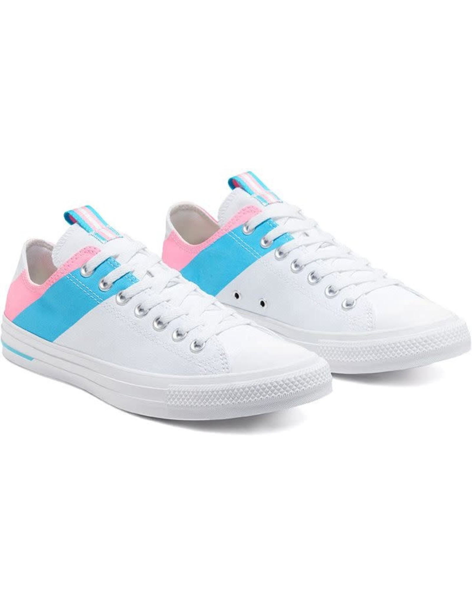 CONVERSE CHUCK TAYLOR OX WHITE/90S PINK/GNARLY BLUE C14TRA-167760C
