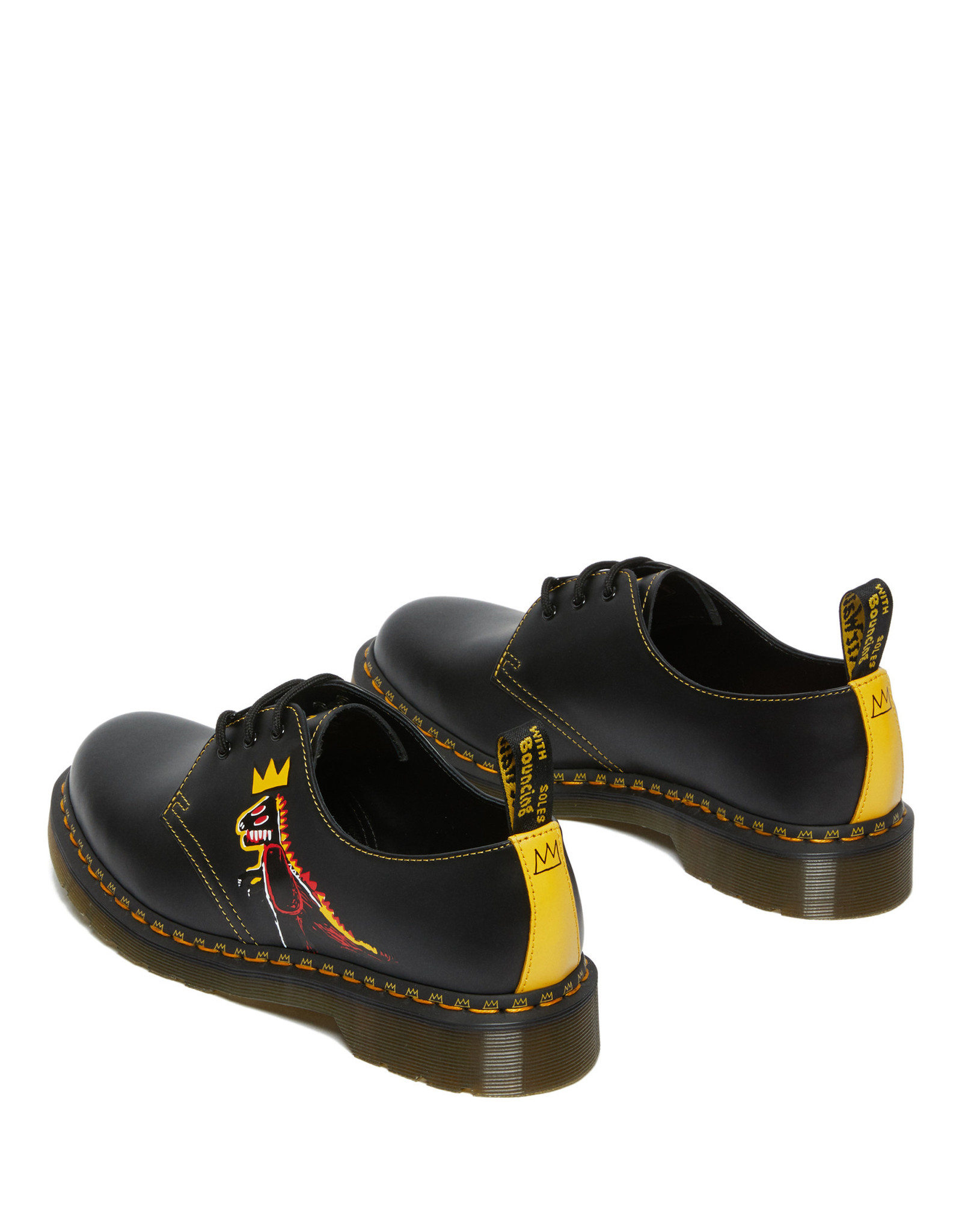 DR. MARTENS 1461 BASQUIAT II BLACK + DMS YELLOW PEZ SMOOTH + SMOOTH 301BASQ-R27186001