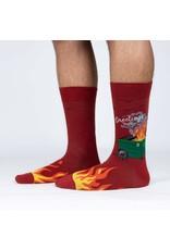 SOCK IT TO ME Men's Dumpster Fire Crew Socks