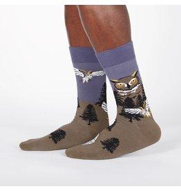 SOCK IT TO ME Men's Owl Mountain Crew Socks