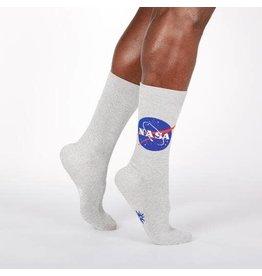 SOCK IT TO ME Men's NASA Titanium Shimmer Crew Socks
