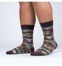 SOCK IT TO ME Men's Cabin Life Crew Socks
