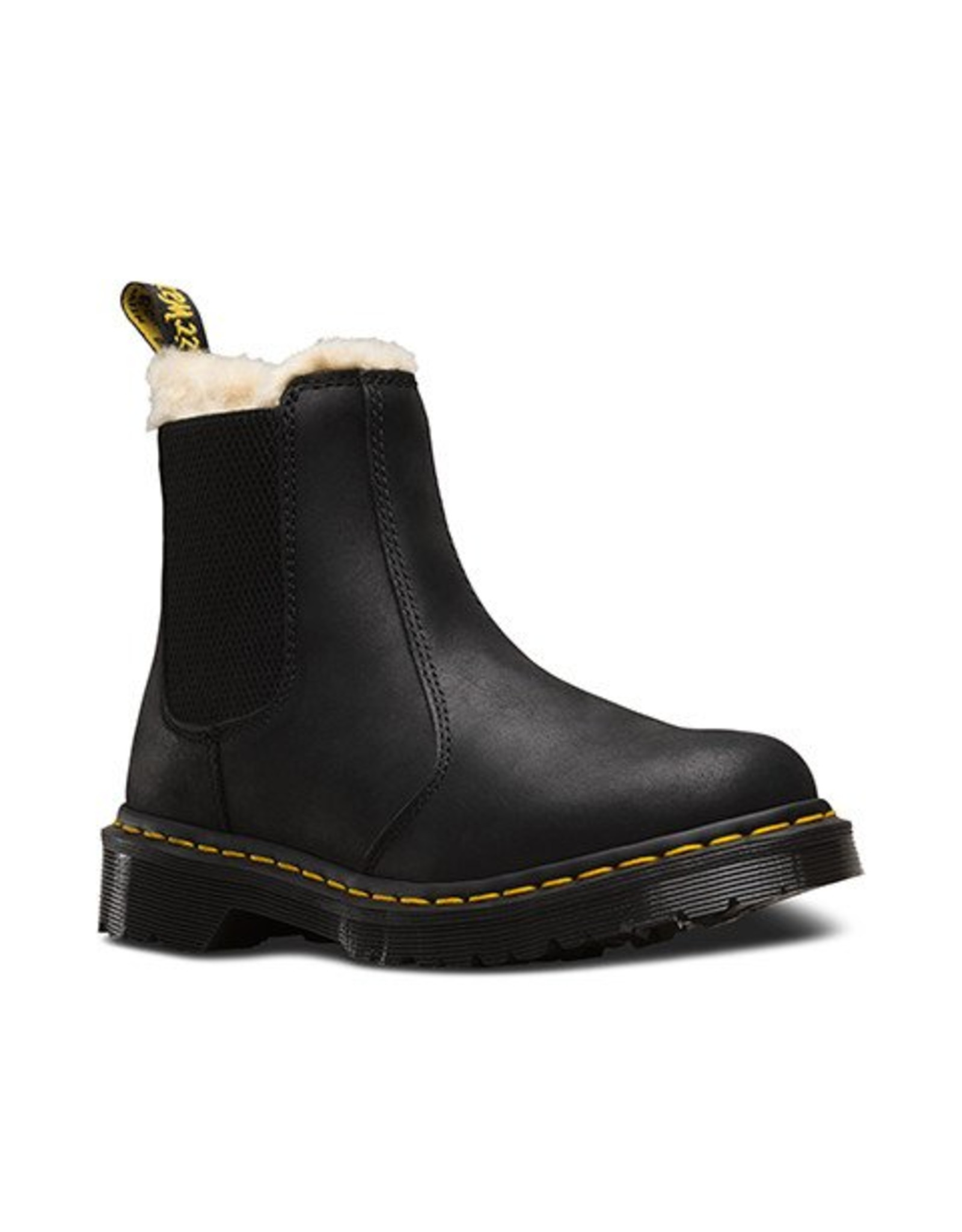 DR. MARTENS FUR LINED LEONORE WYOMING BLACK BURNISHED WYOMING E15B-R21045001