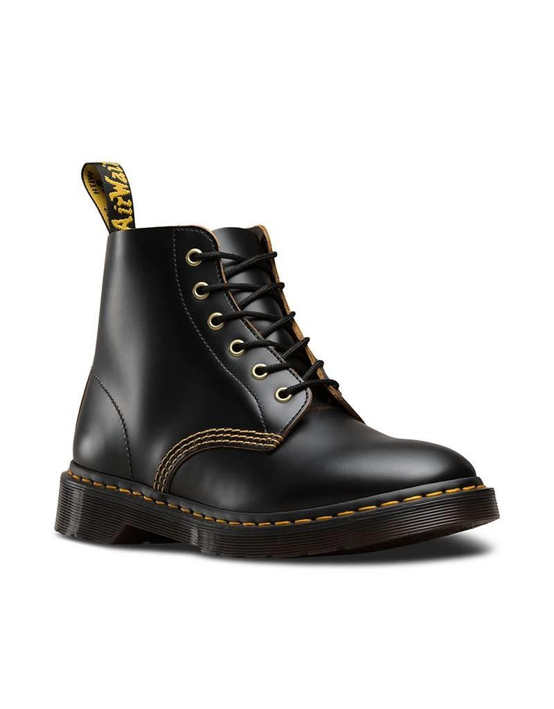 DR. MARTENS 101 ARC BLACK VINTAGE SMOOTH 601BV-R22701001