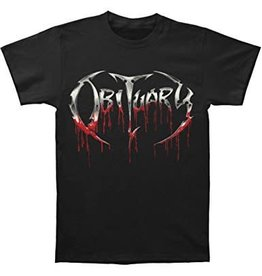 Obituary Bloody Logo Shirt Large