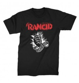 Rancid Let's Go White Print Shirt