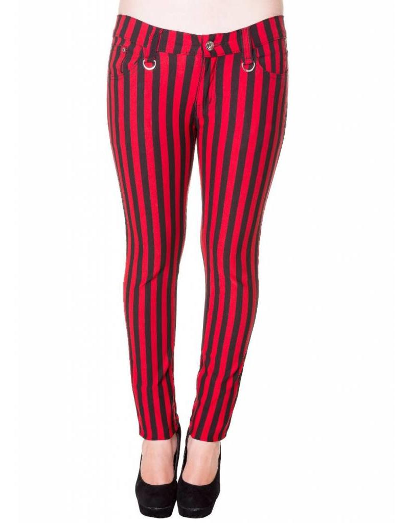 BANNED BANNED - Striped Black/Red Pants