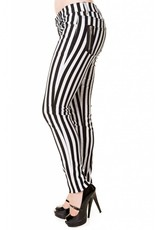 BANNED - Black and White Striped Pants