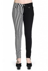 BANNED BANNED - Half Striped Black/White Pants