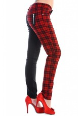 BANNED - Half Black/Checkered Red Pants