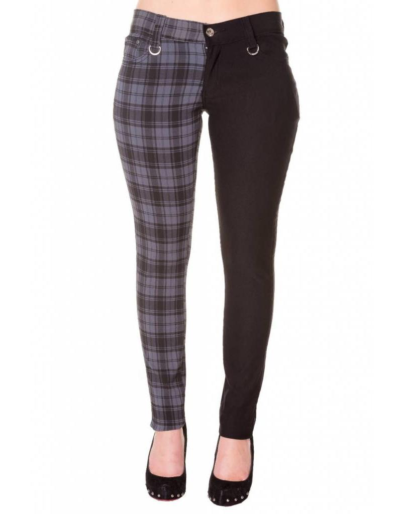 BANNED - Half Checkered Grey Pants
