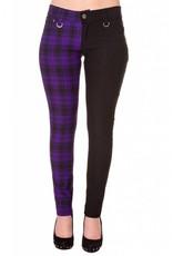 BANNED - Half Checkered Purple Pants