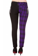BANNED BANNED - Half Checkered Purple Pants