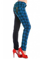 BANNED - Half Checkered Blue Pants