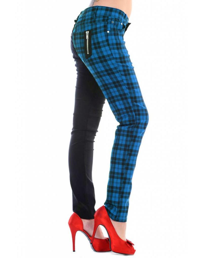 BANNED BANNED - Half Checkered Blue Pants